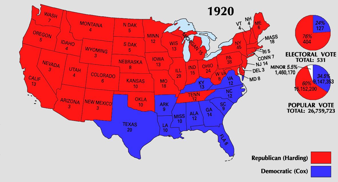 1920 Electoral Map
